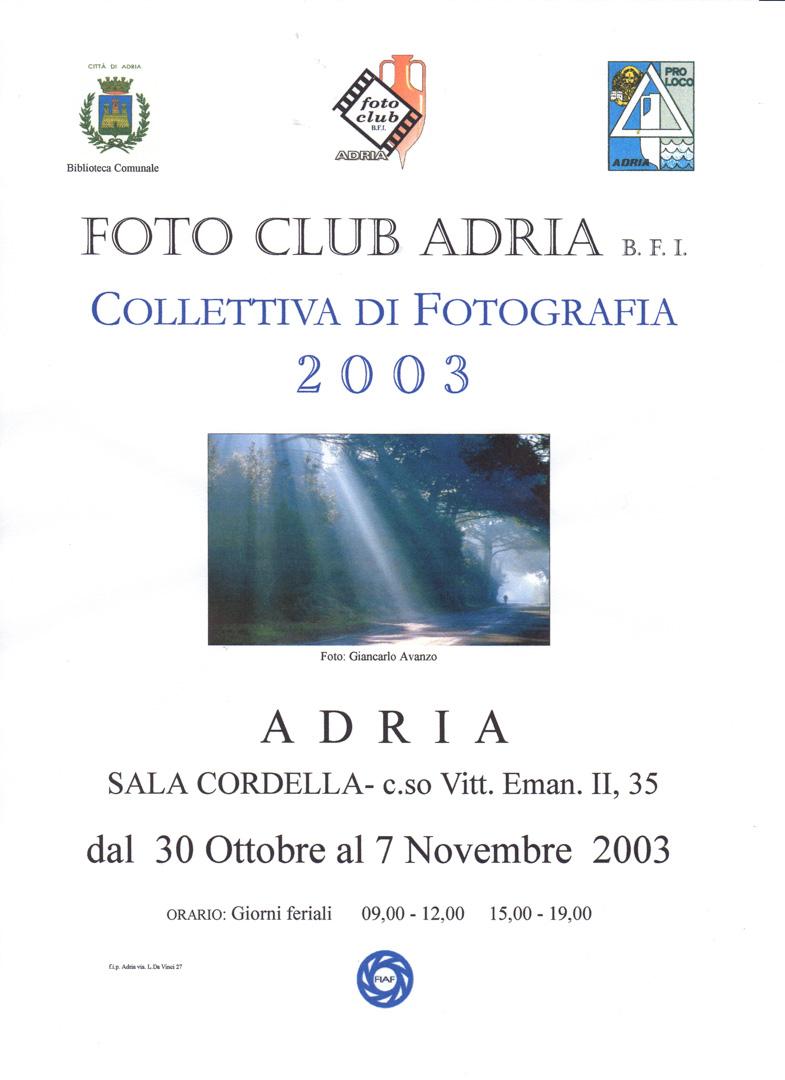 30 ott. - 7 nov. 2003