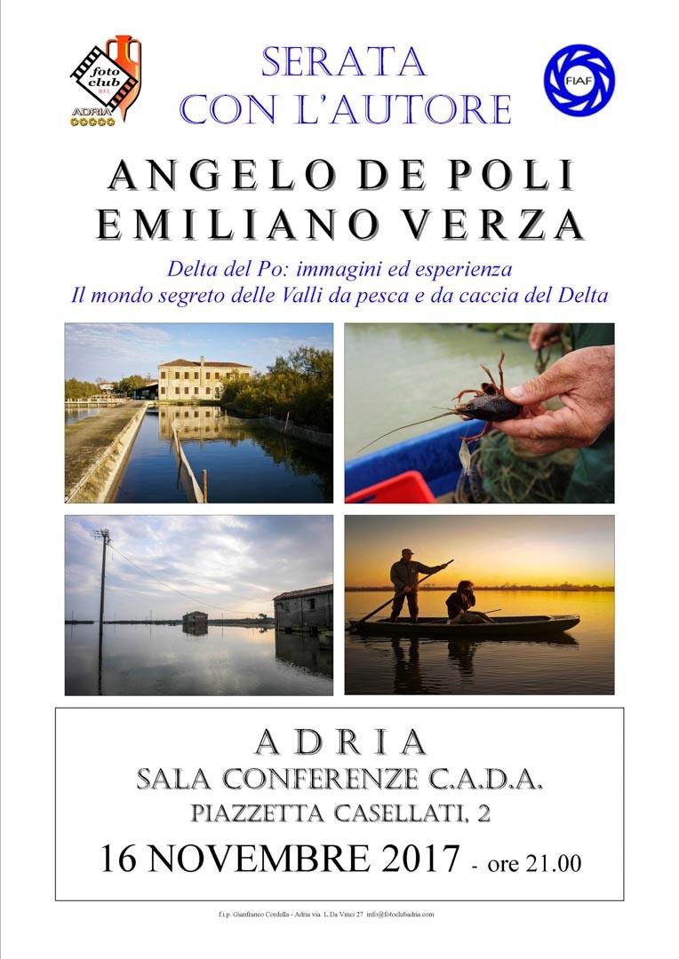 Serata autore: A. De Poli e E. Verza