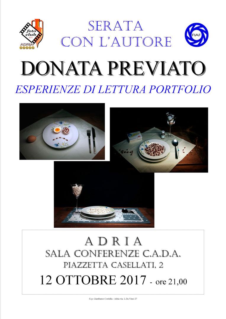 Serata autore: Donata Previato
