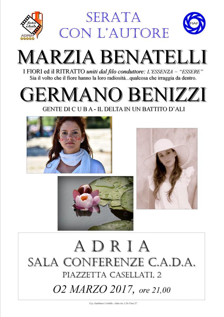 Serata autore: Germano Benizzi e Marzia Benatelli