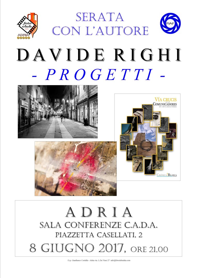 Serata autore: Davide Righi