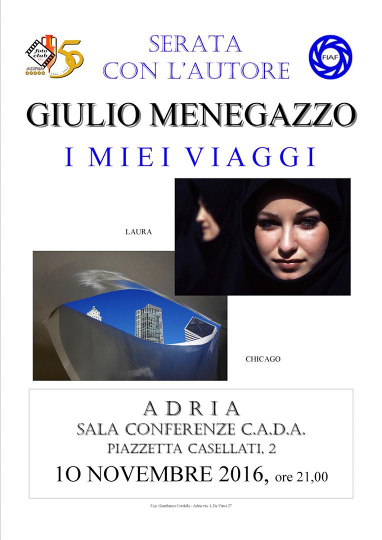 locandina Giulio Menegazzo